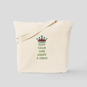 KEEP CALM AND ADOPT A CHILD Tote Bag