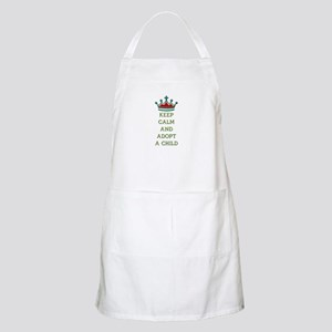 KEEP CALM AND ADOPT A CHILD Apron