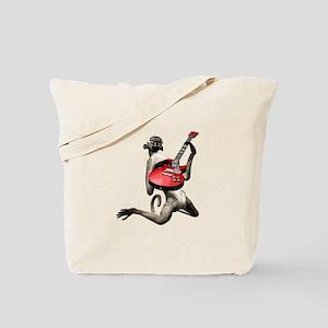 Monkey Playing Guitar Tote Bag
