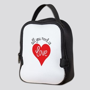all you need is love Neoprene Lunch Bag