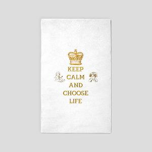 KEEP CALM AND CHOOSE LIFE 3'x5' Area Rug
