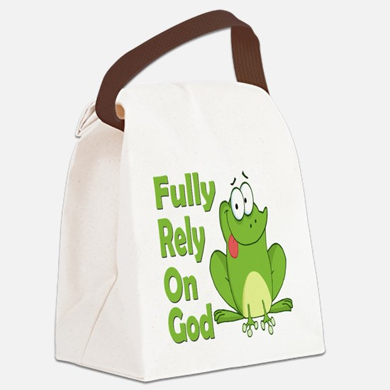 Fully Rely On God Canvas Lunch Bag