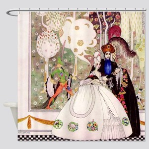 Bluebeard and His Lady By Kay Nielsen Shower Curta
