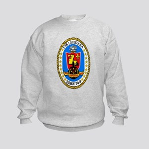 USS Louisiana SSBN 743 Kids Sweatshirt