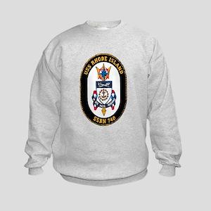 USS Rhode Island SSBN 740 Kids Sweatshirt