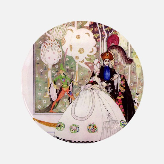 """Bluebeard and His Lady By Kay Nielsen 3.5"""" Button"""