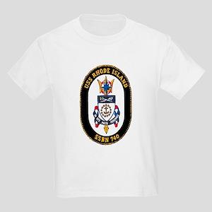 USS Rhode Island SSBN 740 Kids Light T-Shirt