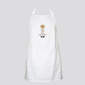 KEEP CALM AND PRAY FOR PRIESTS Apron