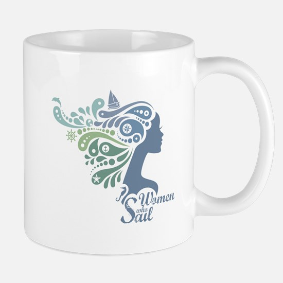 Woman Who Sail Logo Mugs