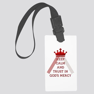 KEEP CALM AND TRUST IN GOD'S MERCY Large Luggage T