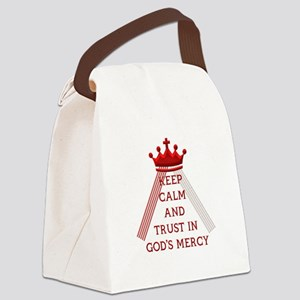 KEEP CALM AND TRUST IN GOD'S MERCY Canvas Lunch Ba