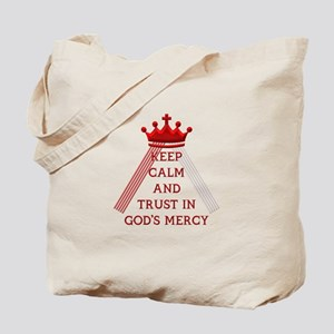 KEEP CALM AND TRUST IN GOD'S MERCY Tote Bag
