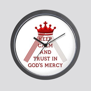 KEEP CALM AND TRUST IN GOD'S MERCY Wall Clock