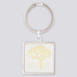 Plant a Tree Now Square Keychain