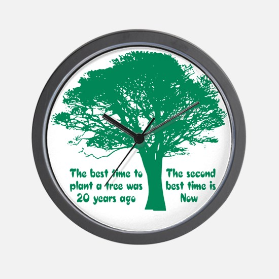 Plant a Tree Now Wall Clock