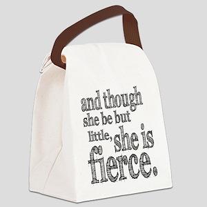 She is Fierce Shakespeare Canvas Lunch Bag