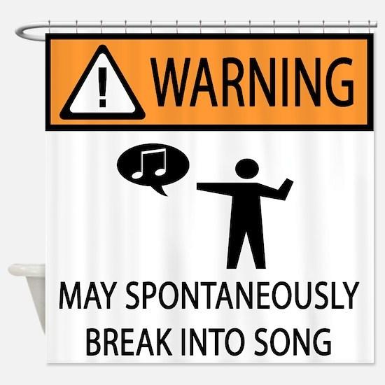 Spontaneous Singer 2 Shower Curtain