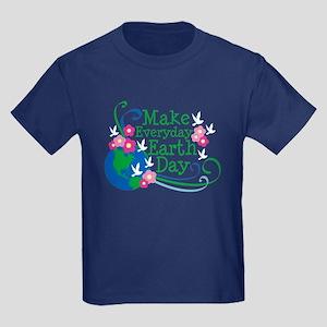 Make Everyday Earth Day Kids Dark T-Shirt