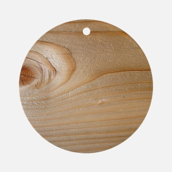 Unfinished Wood Round Ornament