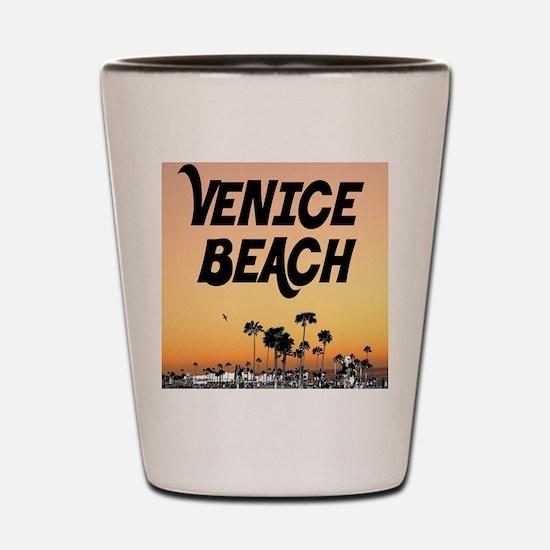 Venice Beach Boardwalk Sunset Shot Glass