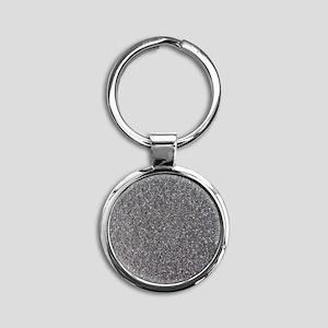 Grey foam rubber Round Keychain