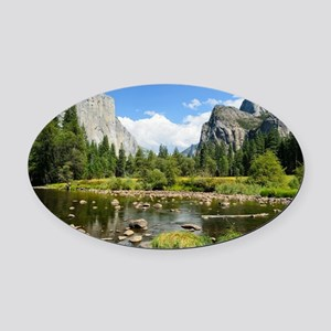 Valley View in Yosemite National P Oval Car Magnet