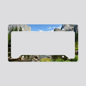 Valley View in Yosemite Natio License Plate Holder
