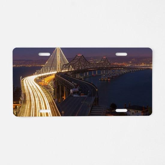 San Francisco–Oakland Bay B Aluminum License Plate