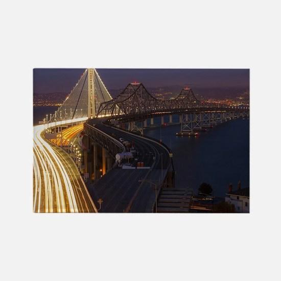 San Francisco–Oakland Bay Bridge Rectangle Magnet