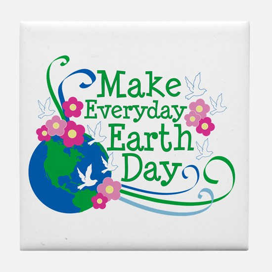 Make Everyday Earth Day Tile Coaster