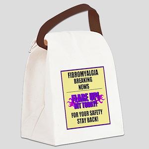 FIBROMYALGIA FLARE UP! Canvas Lunch Bag