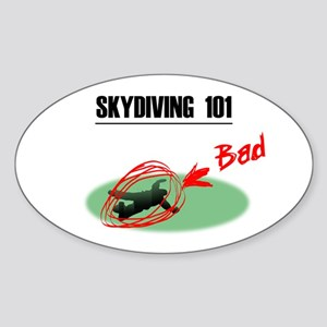 Skydiving 101 Oval Sticker