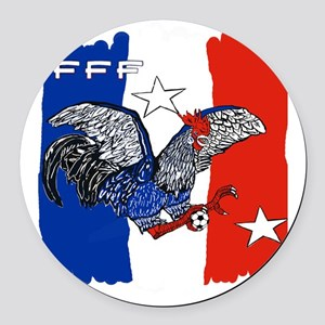 France Quest for Brazil World Cup Round Car Magnet