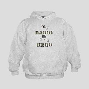 My Daddy Is My Hero Kids Hoodie