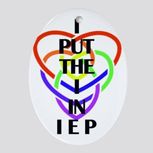 I Put the I in IEP Oval Ornament