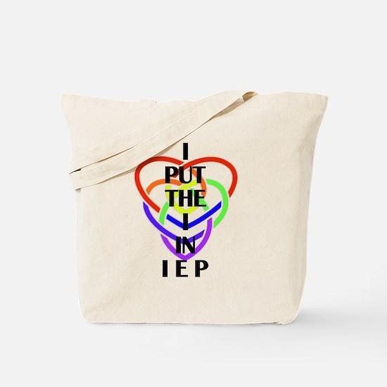 I Put the I in IEP Tote Bag
