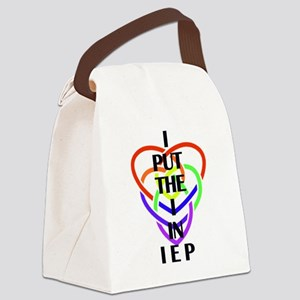 I Put the I in IEP Canvas Lunch Bag