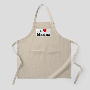 I Love Marina BBQ Apron