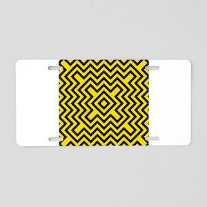 Chevron Bee Aluminum License Plate
