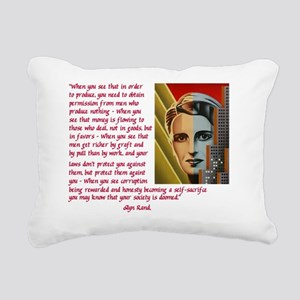 your society is doomed Rectangular Canvas Pillow
