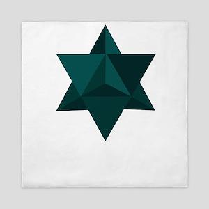Star Tetrahedron Queen Duvet