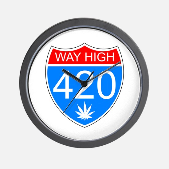 WayHigh420 Wall Clock