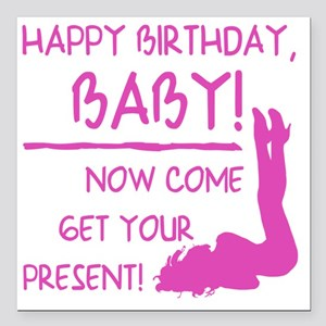 """Sexy Birthday Gift For M Square Car Magnet 3"""" x 3"""""""