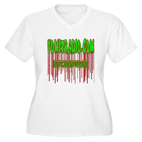 VomitRadio Women's Plus Size V-Neck T-Shirt