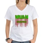 VomitRadio Women's V-Neck T-Shirt