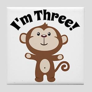 Monkey Im 3 Tile Coaster