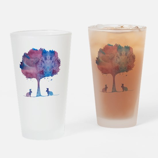 Cute Bunny picture Drinking Glass