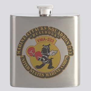 USMC - Marine Attacks Squadron 223 with Text Flask