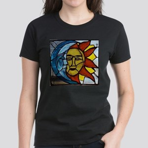 Moon and Sun Stained Glass Panel T-Shirt
