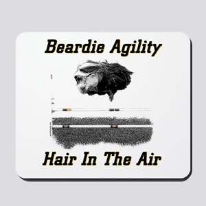 Beardie Agility: Hair In The Air Mousepad